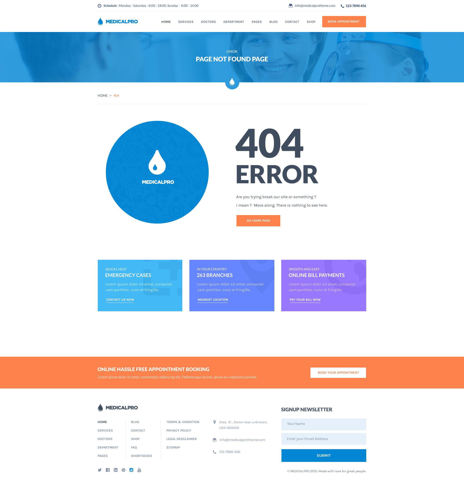 MedicalPro - Health and Medical WordPress Theme