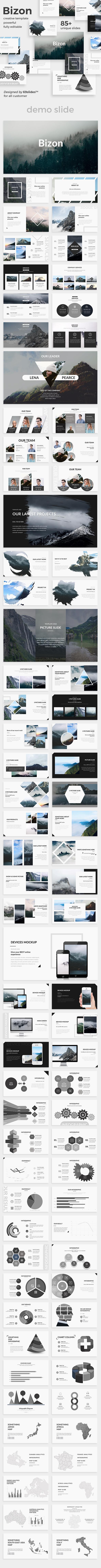 Bizon Creative Powerpoint Template - Creative PowerPoint Templates