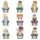 Icons Set of Little Children in 3D-glasses