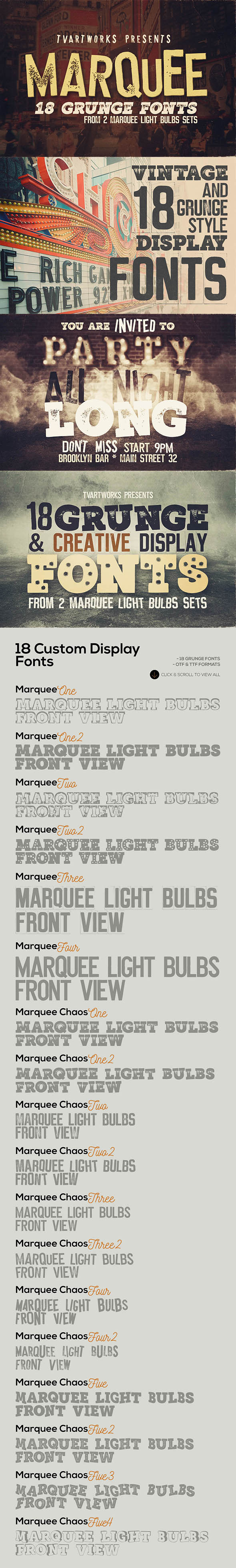 GraphicRiver Marquee 18 Grunge Fonts 20785961