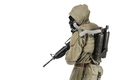 Studio shot nuclear survivor with weapons - PhotoDune Item for Sale