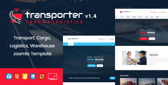 Image of Transporter –   Transport, Logistics, Cargo Joomla Template