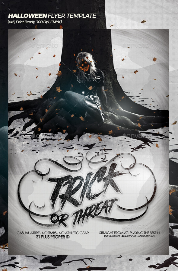 Trick or Threat Halloween Poster / Flyer Template - Events Flyers