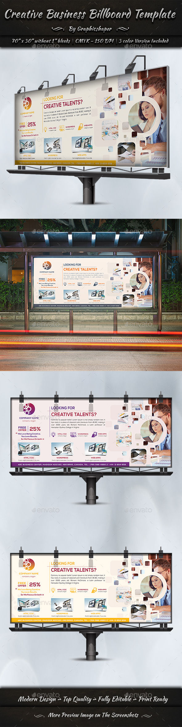 GraphicRiver Creative Business Billboard Template 20786740