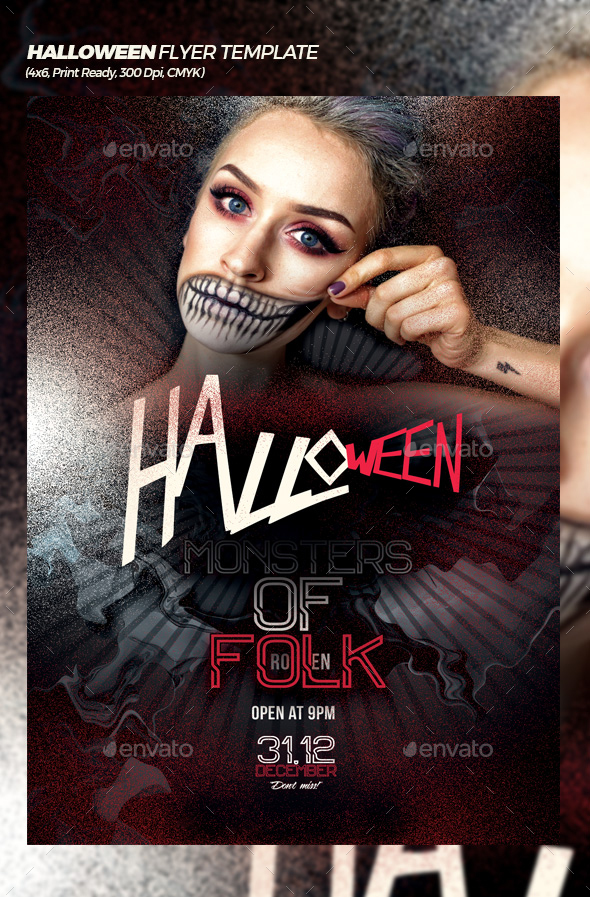 GraphicRiver Halloween Bash Flyer Poster Template 20772605