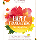 Thanksgiving Party Flyer