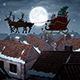 Flying Santa Over The City - VideoHive Item for Sale