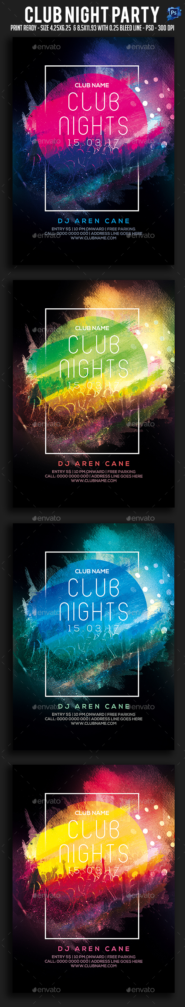 GraphicRiver Club Night Party Flyer 20787519