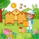 Boy Collects Honey. - GraphicRiver Item for Sale