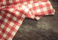 checked cloth napkin