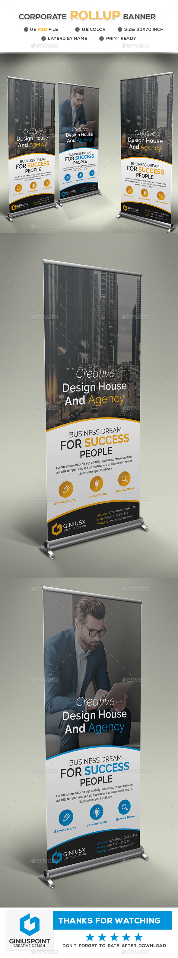 GraphicRiver Corporate Roll-Up Banner 20787706