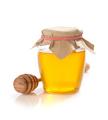 glass jar of honey on white background - PhotoDune Item for Sale