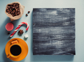 coffee cup and beans at colorful background - PhotoDune Item for Sale