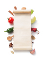 parchment scroll and food  ingredient - PhotoDune Item for Sale