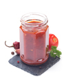 tomato sauce in glass jar on white - PhotoDune Item for Sale