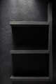 shelf and black wall on wooden - PhotoDune Item for Sale