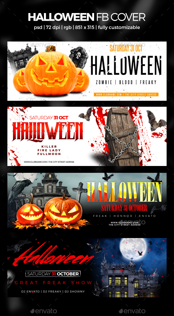 GraphicRiver Halloween Facebook Cover V2 20787978