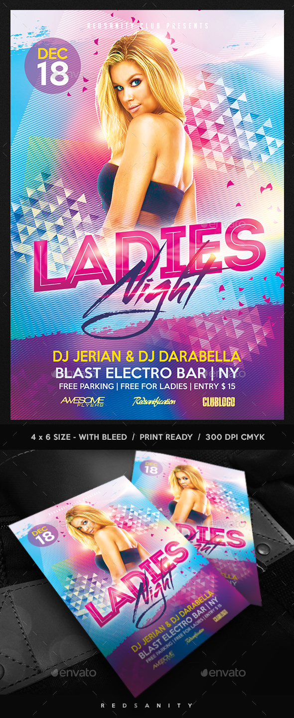 GraphicRiver Ladies Night Flyer 20787999