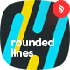 Diagonal Rounded Lines Backgrounds - GraphicRiver Item for Sale