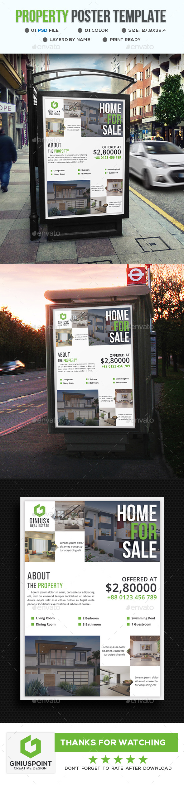 Property Poster - Signage Print Templates