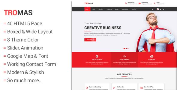 Tromas - Multipurpose Business Template