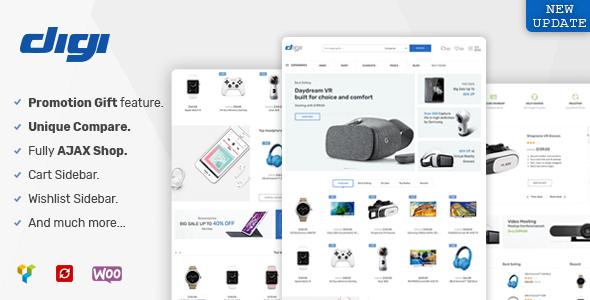 Digi - Electronics WooCommerce Theme (Promotion Gift Feature)