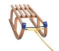 wooden sledge on white, clipping path - PhotoDune Item for Sale