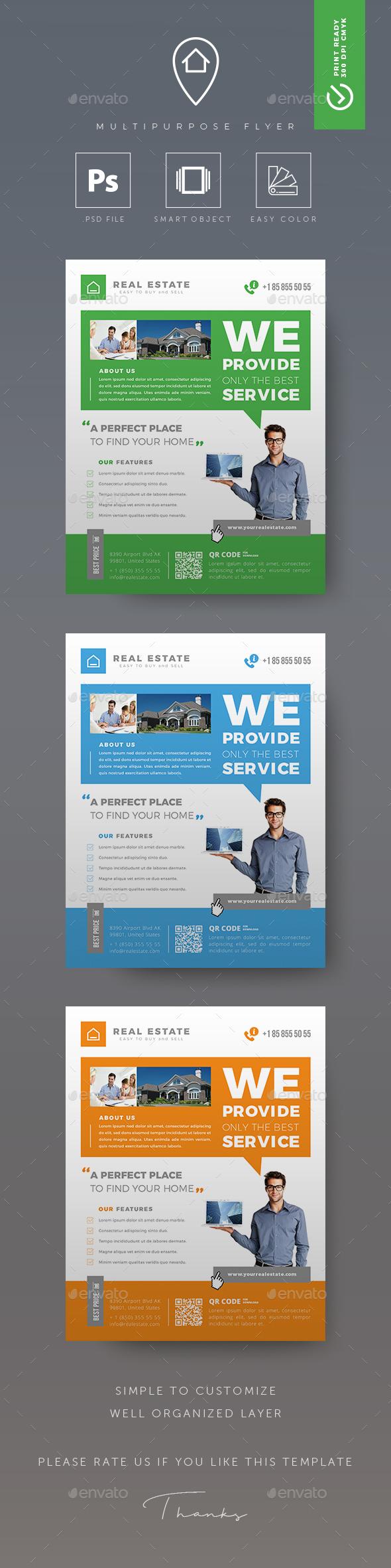 GraphicRiver Real Estate Flyer 20788880