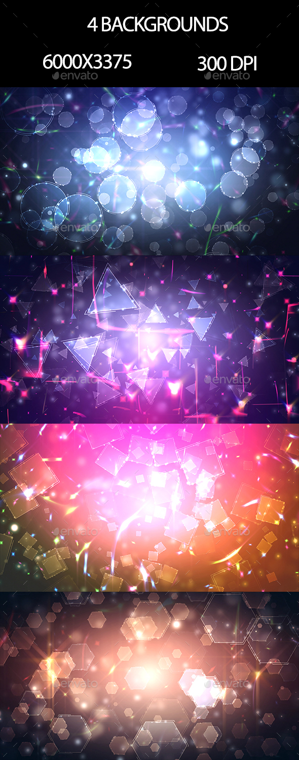 Bokeh and Stroke - Backgrounds Graphics