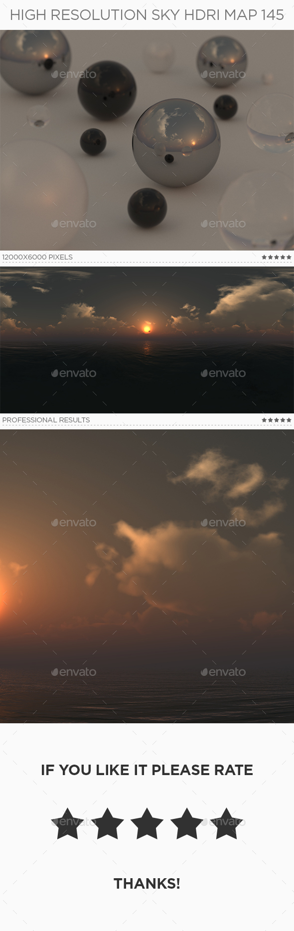 High Resolution Sky HDRi Map 145 - 3DOcean Item for Sale