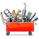 Vector Toolbox Trolley with Car Spares
