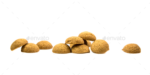 Row of Pepernoten cookies - Stock Photo - Images