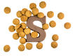 Handful of Pepernoten cookies with chocolate letter - PhotoDune Item for Sale