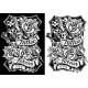 Black and White Graphic Tattoo Machine and Roses