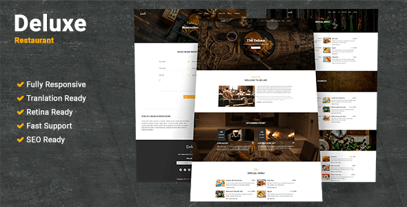 ThemeForest Deluxe Restaurant WordPress Theme 20609910