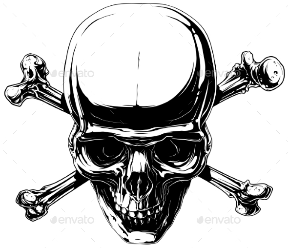 GraphicRiver Graphic Horror Human Skull with Crossed Bones 20789166
