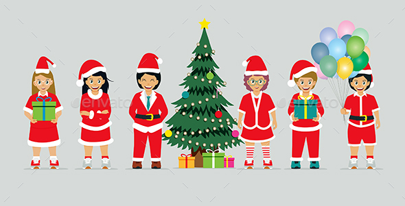 GraphicRiver Santa Claus Costumes 20789177