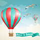 Air Balloon and Birds in the Sky - GraphicRiver Item for Sale
