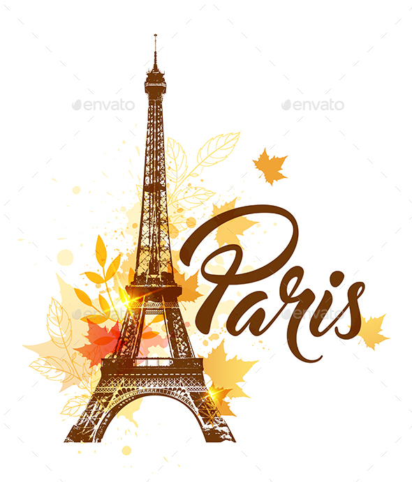 GraphicRiver Autumn Paris Background 20789252