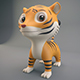 Cartoon Tiger - 3DOcean Item for Sale