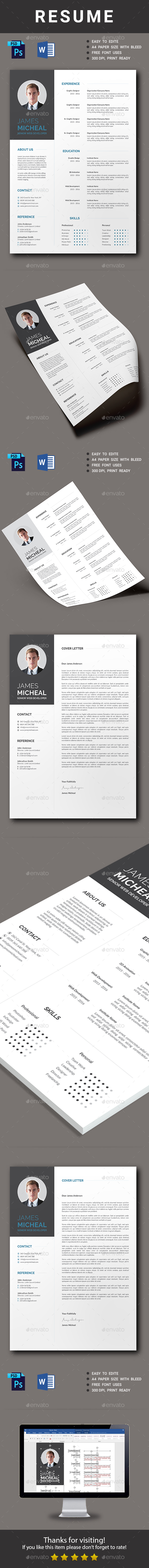 GraphicRiver Resume 20789590
