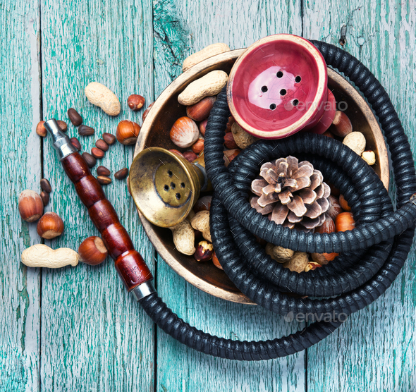 Asian Hookah with a nut taste - Stock Photo - Images