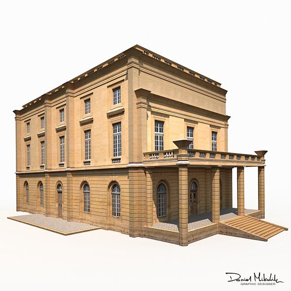 Public Building 187 Low Poly - 3DOcean Item for Sale