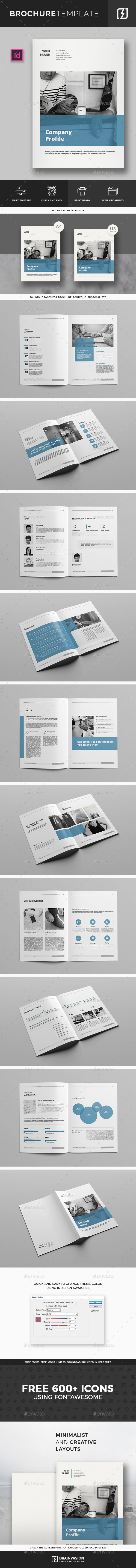 Company Profile Brochure Template By Brainvasion GraphicRiver - Company profile brochure template