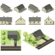 Set of Simple Isometric Houses