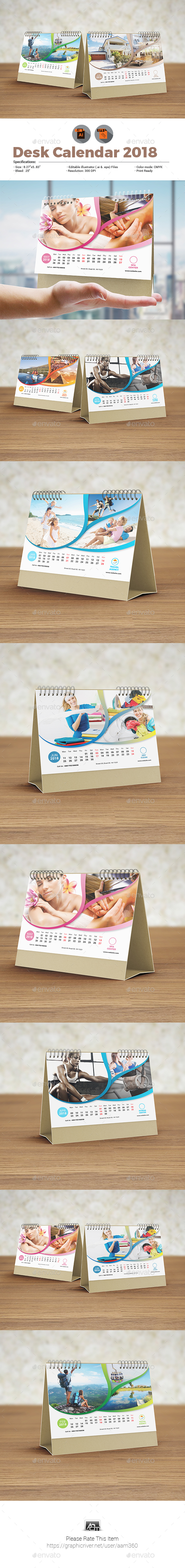 GraphicRiver Desk Calendar Template 20789887