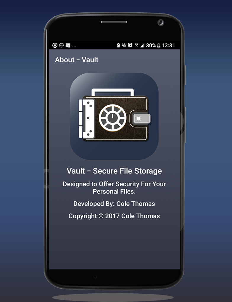 Android Vault Secure File Storage