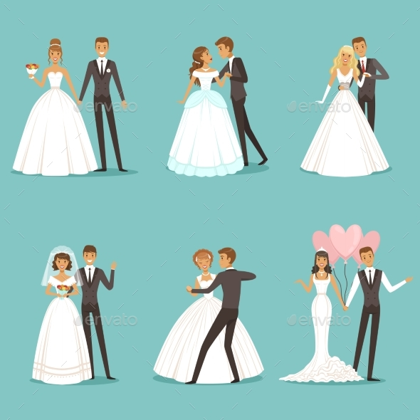 GraphicRiver Wedding Couple Characters 20790080