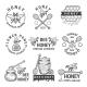 Monochrome Labels Set with Honey
