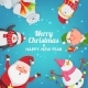 Christmas Background with Characters - GraphicRiver Item for Sale